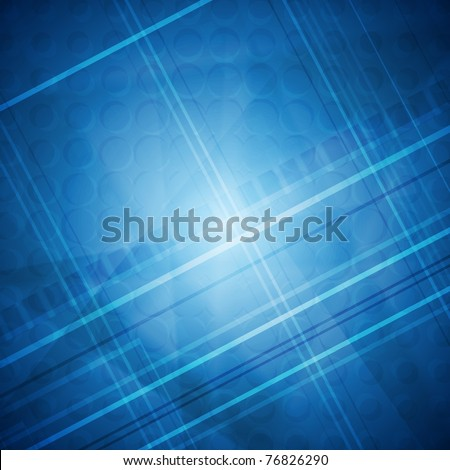 Blue tech abstract background. Eps 10