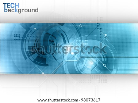 blue tech background with