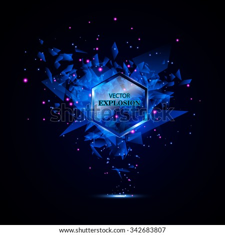 blue techno style vector