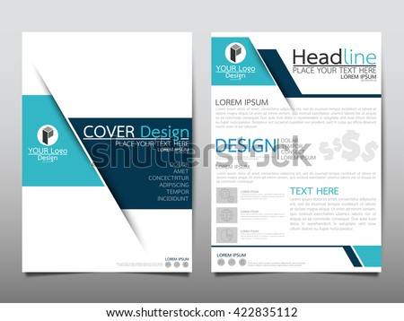 Blue technology annual report brochure flyer design template vector, Leaflet cover presentation abstract geometric background, layout in A4 size