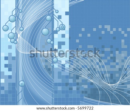 Blue technology background a blue vector corporate style technology