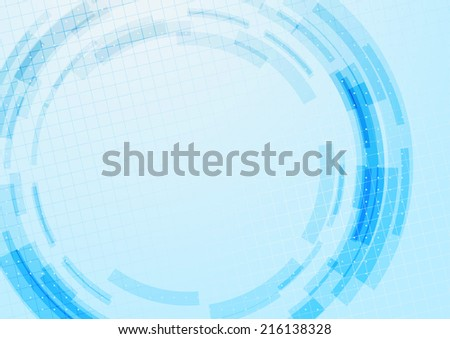 Blue technology gear modeling background with dotted particle pattern. Vector illustration