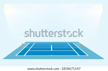 blue tennis court vector