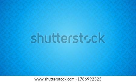 Blue Thai pattern background vector illustration. Thai element pattern on blue background.