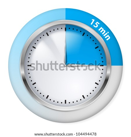 blue timer icon fifteen