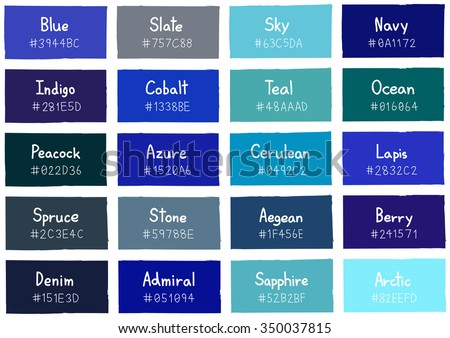 Blue Tone Color Shade Background with Code and Name Illustration Foto stock ©
