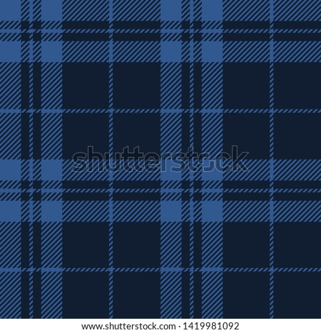 Blue tone colors tartan plaid Scottish seamless pattern.Texture from plaid, tablecloths, clothes, shirts, dresses, paper, bedding, blankets and other textile products.