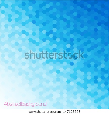 blue tones hexagonal honeycomb