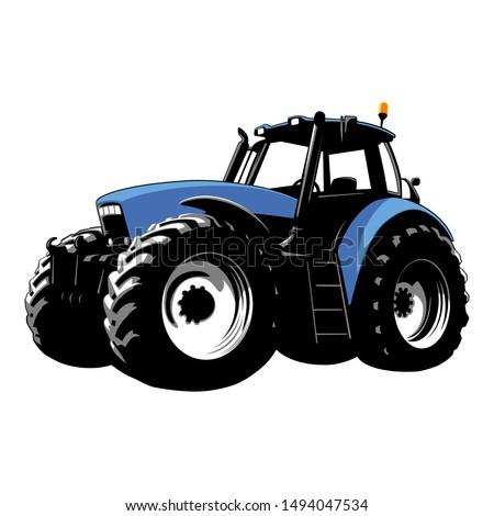 Blue Tractor Clipart , Transparent Cartoon - Jing.fm