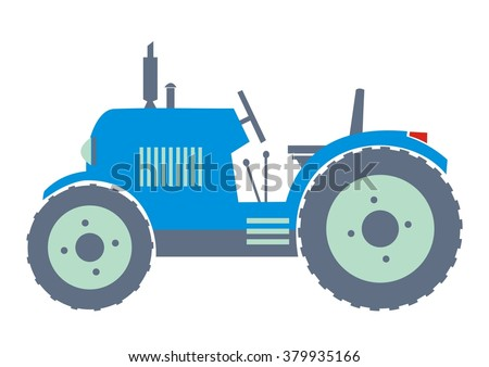Tractor Royalty-free Illustration - Blue tractor design vector material png  download - 970*850 - Free Transparent Tractor png Download. - Clip Art  Library