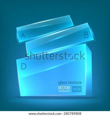 Blue transparent glowing figure. Space for text. Not Him. vector