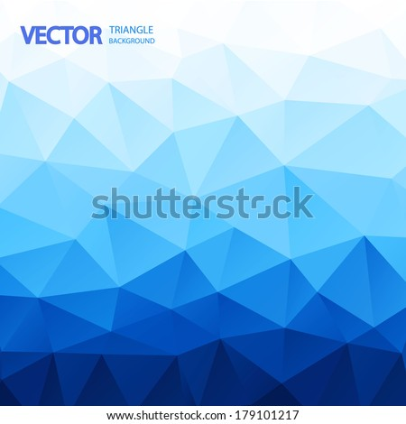 blue triangle abstract