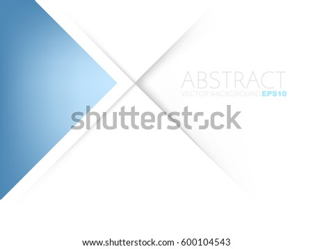 blue triangle background on...