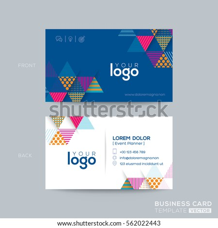Blue Triangle modern business card design