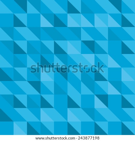 Blue triangle pattern