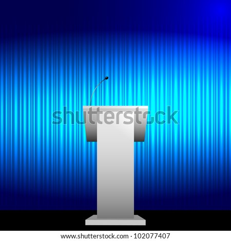 Blue tribune vector background