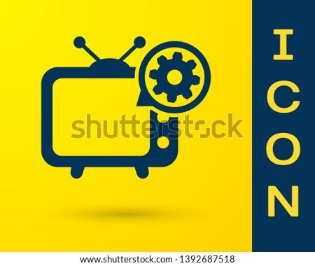 Retro Television TV Entertainment Media Icon Illustration Vector