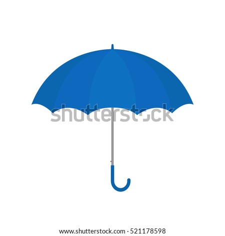 Blue umbrella vector isolated