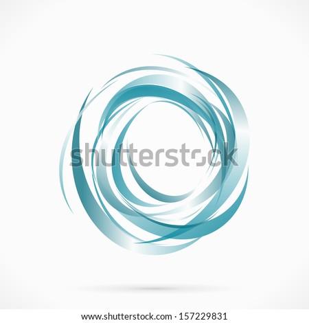 blue vector abstract circle