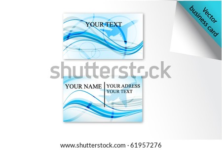 blue vector business card set