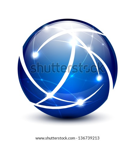 blue vector communication globe