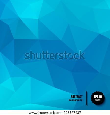 blue vector geometric pattern