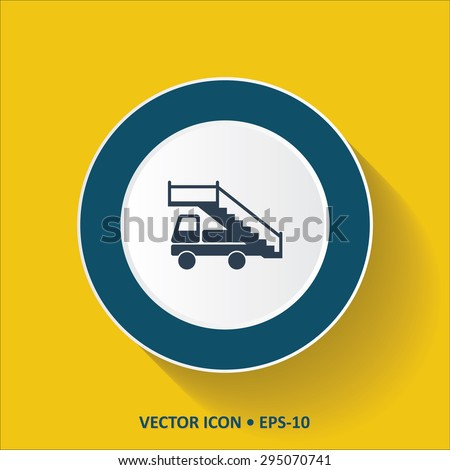 blue vector icon of airport