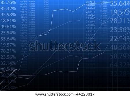blue vector illustration of graph