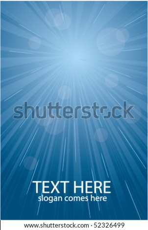 Blue vector light burst, abstract background