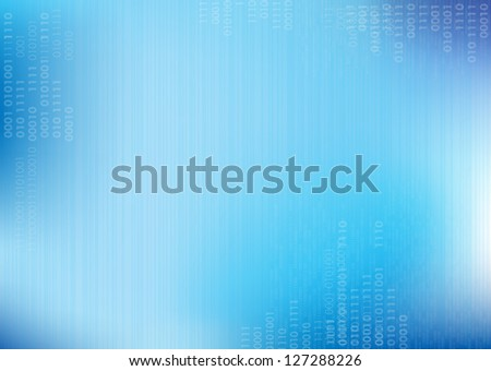 Blue vector lines Background with binary code