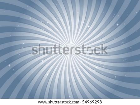 Blue vector swirl illustration