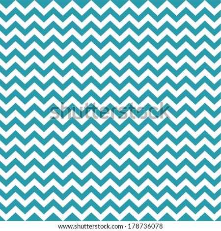 Blue Vintage Card, Zigzag Chevron Design
