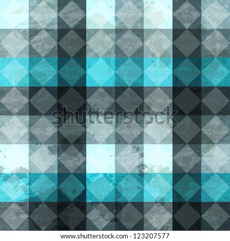 blue vintage rhombuses seamless pattern