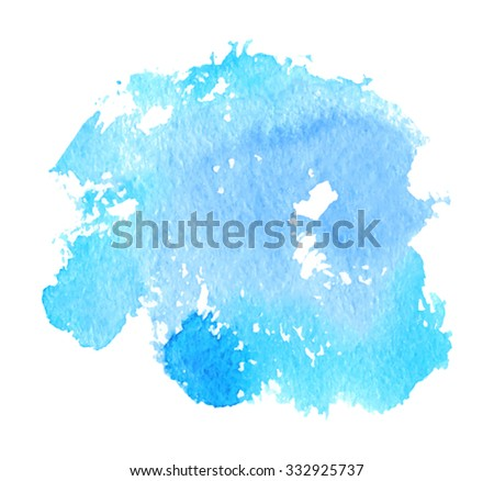 blue violet watercolor brush