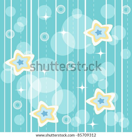 Blue vivid pattern. Vector illustration.