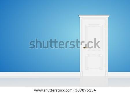 blue wall  wall door abstract