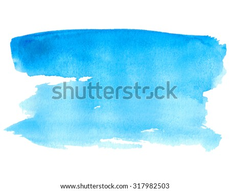 blue water isolated spot on