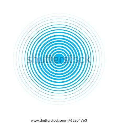 blue water rings sound circle
