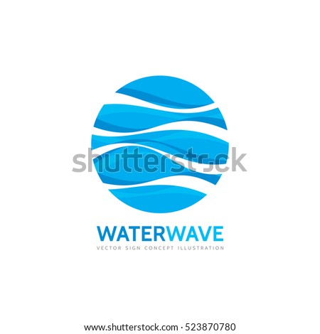 blue water wave   vector