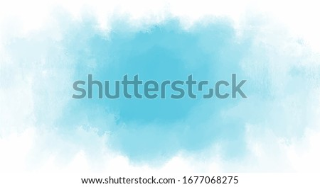 Blue watercolor background for your design, watercolor background concept, vector.