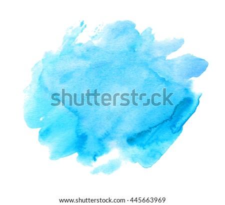 blue watercolor hand drawn