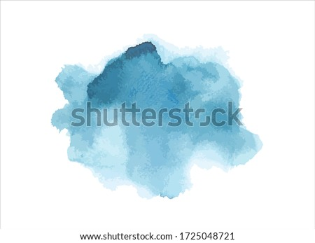 blue watercolor paint stroke background vector illustration