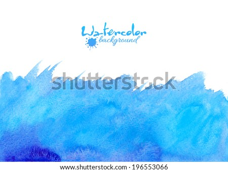 blue watercolor vector