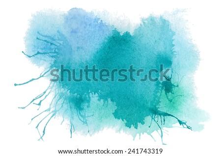 blue watercolor vector