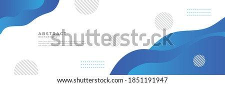 Blue wave abstract background. Liquid color background design. Fluid gradient shapes composition. Futuristic design for posters, banner, web header, presentation design and much more
