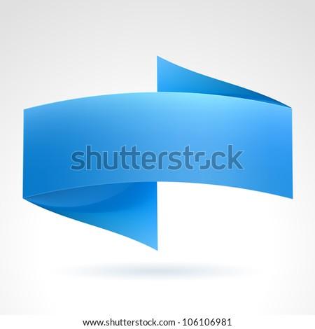 Blue Wave Banner. Illustration on white background for design