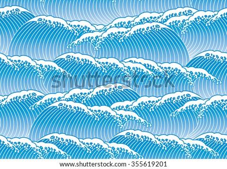blue wave japaneses tyle