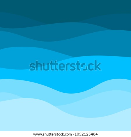 blue wave vector abstract