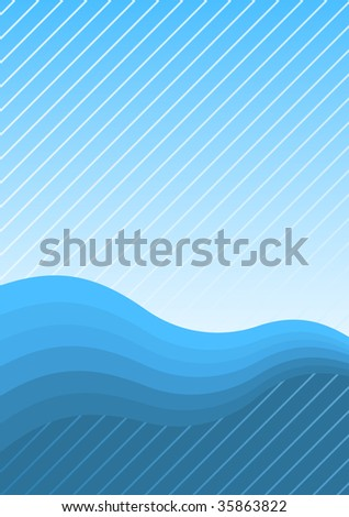 Blue waves and lines page background for presentation cover