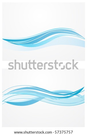 blue waves background